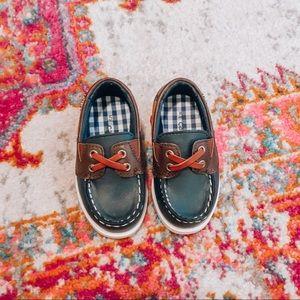Carter's toddler navy boat shoes
